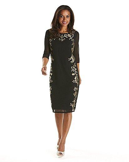 Joanna Hope Embroidered Dress   Life!!   Pinterest   Gold ...