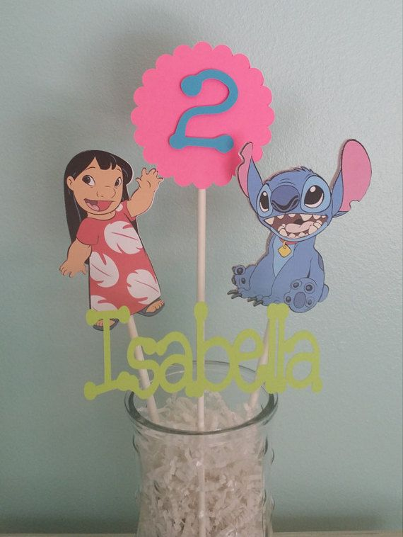 Lilo Stitch Themed Centerpiece Set Of 4 Picks In 2019 Products