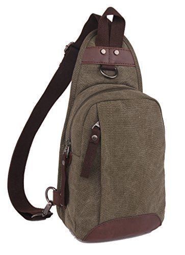 21da09f42d4 ZUOLUNDUO Vintage Canvas Chest Pack Outdoor Sports Bag Travel Bag Shoulder  Bag   Want to know more, visit