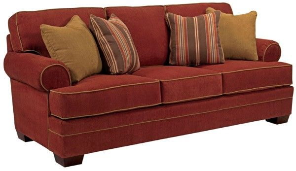Broyhill Furniture Landon Walnut Microfiber Sofa Bro 6608 3q 8981 65