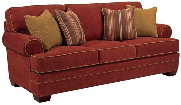 Microfiber Sofas Black And White Uk Broyhill Furniture Landon Walnut Sofa Bro 6608 3q 8981 65