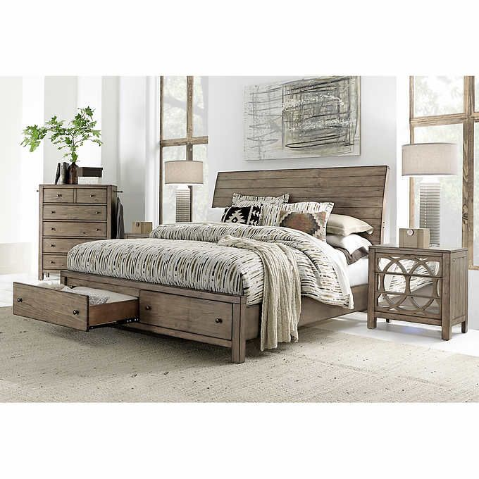 Audrey 48piece King Storage Bedroom Set For The Home Pinterest Magnificent Storage In Bedrooms Set