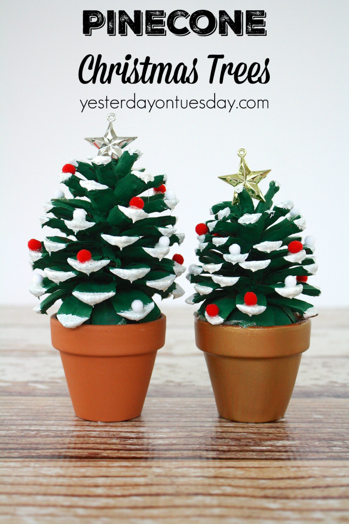 Pinecone christmas trees a fun pinecone craft for kids or for Pine cone christmas tree craft