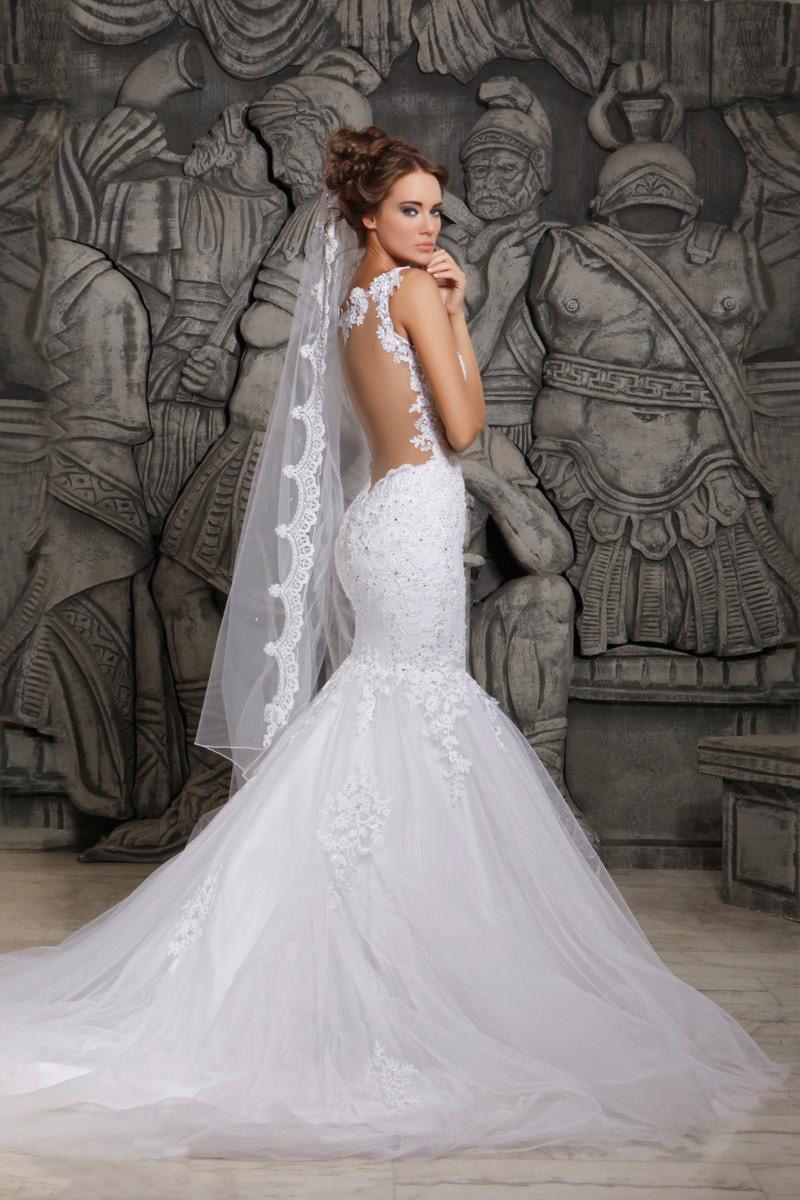Resultado de imagen para vestido de novia sirena encaje sin espalda ...