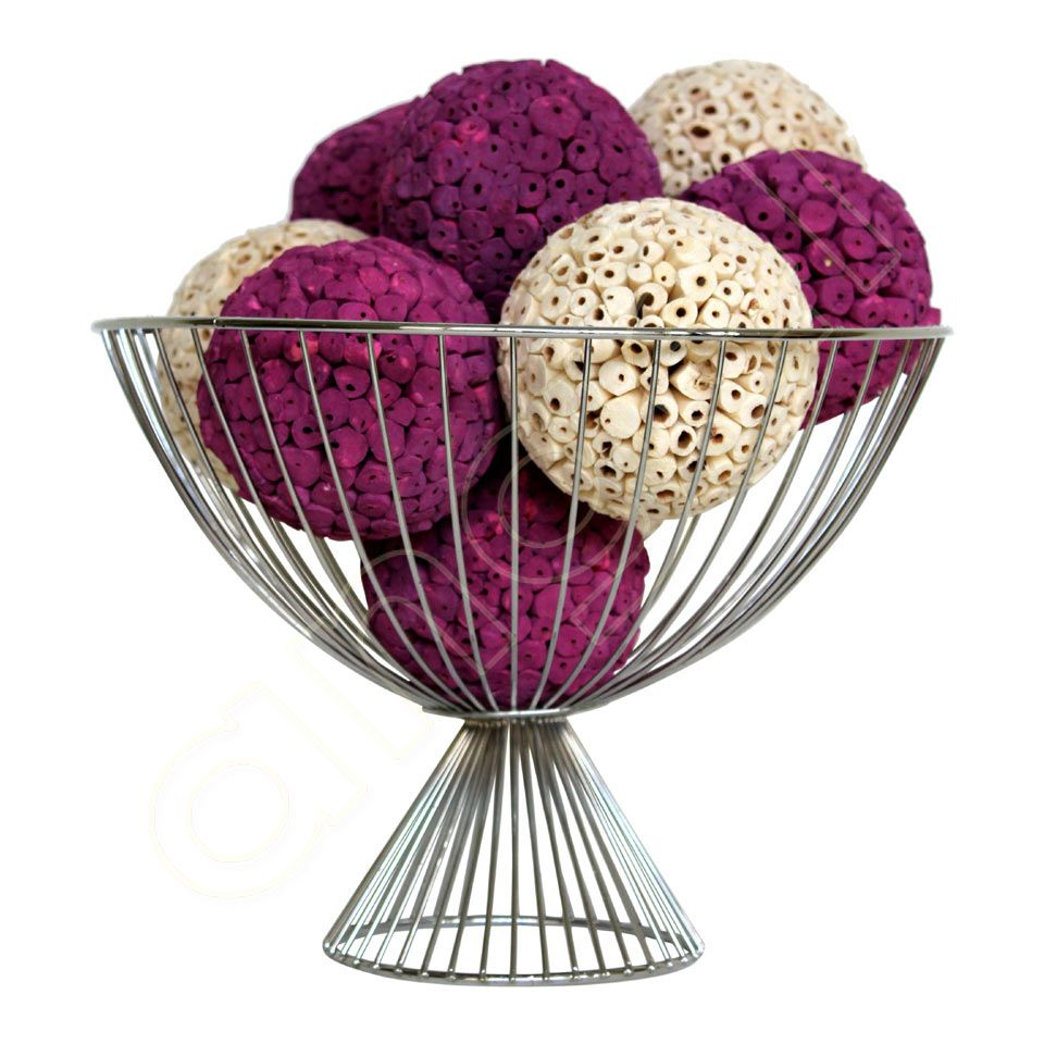 Decorative Bowl With Balls Chinaberry And Ivory Large Decorative Ballsangel Aromatics