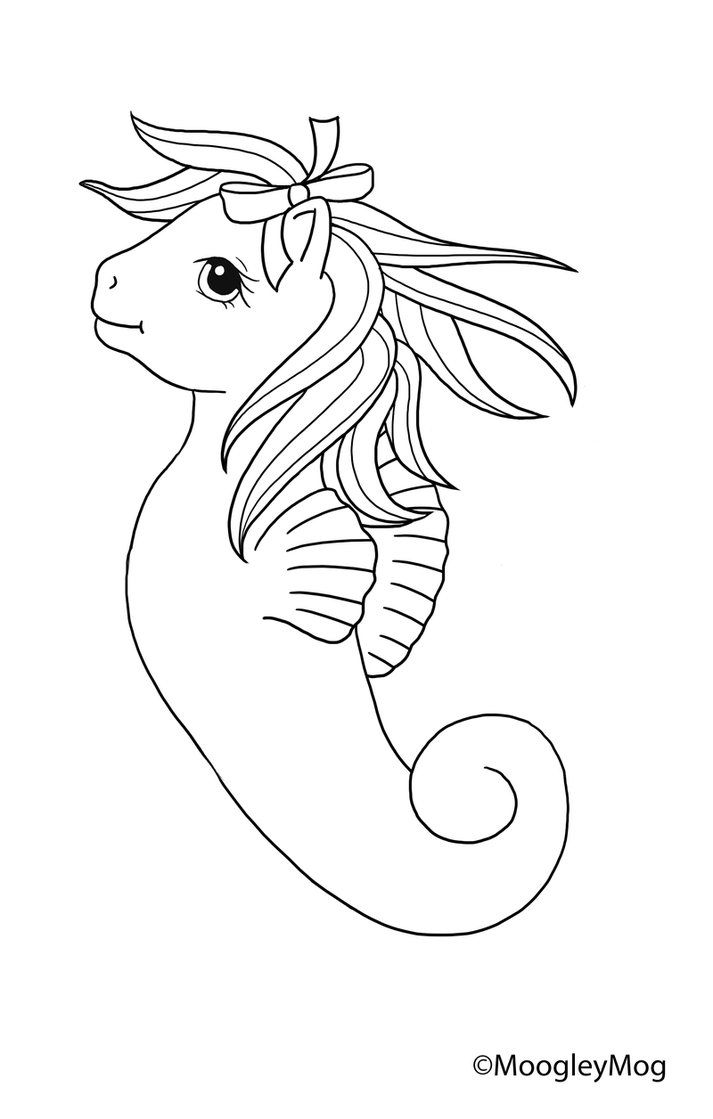 My Little Pony Lineart Drawn With
