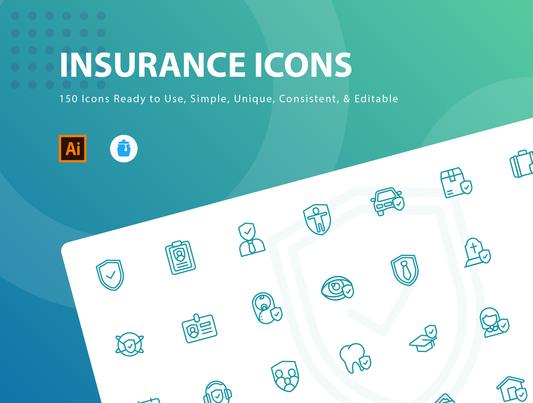 Insurance Icons Illustrations On Ui8 Dental Insurance Icon