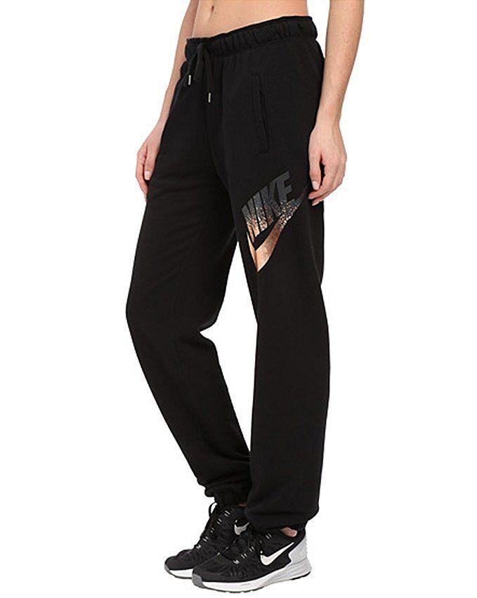 NWT Womens Nike Rally Metal Loose Jogger Pants 853726-010 BLACK Sweatpants sz M