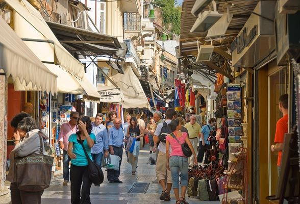 Athens, Greece - Shopping district