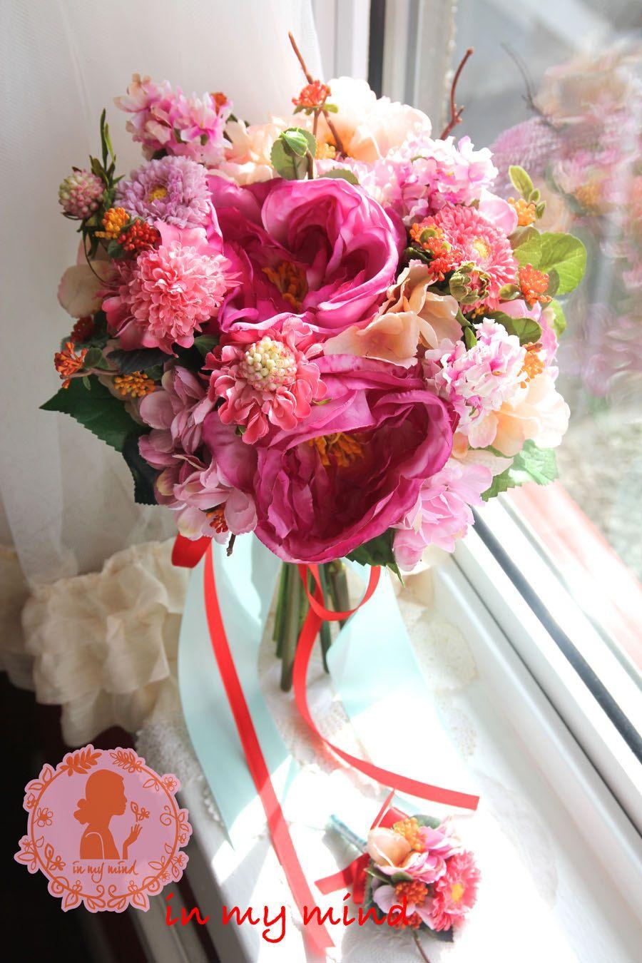 Bridal Bouquet , Silk Bouquet , Wedding bouquet , Artificial ...