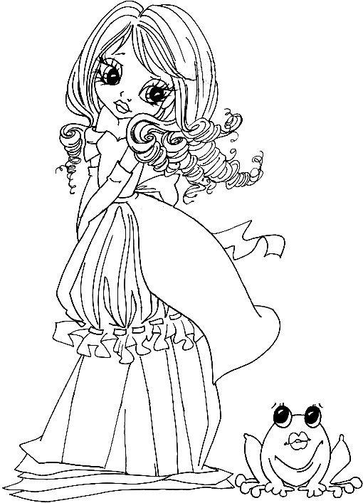 Princess Who Kissed a Frog   monitas.   Pinterest   Sellos digitales ...