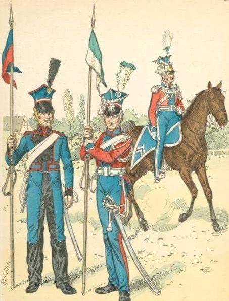 Ulano e tenente colonnello degli ulani sassoni