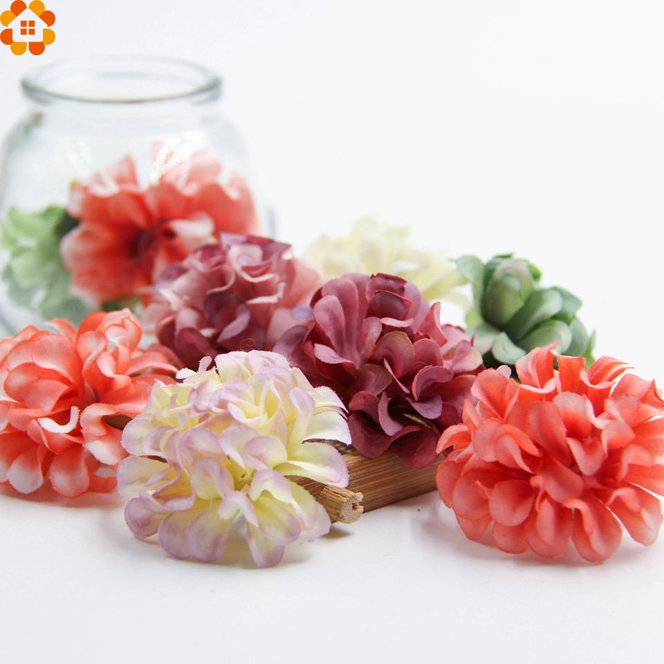 100PCS Artificial Fake Rose Silk Flowers Head Wedding Party Home Garden Decorate