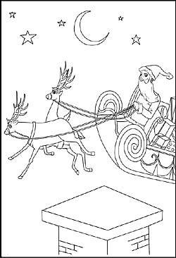 Malvorlage Weihnachtsmann Schlitten Und Rentier Weihnachtsmann Schlitten Weihnachtsmann Schlitten