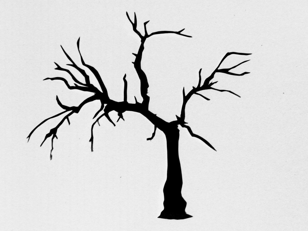 medium resolution of images for simple pine tree stencil