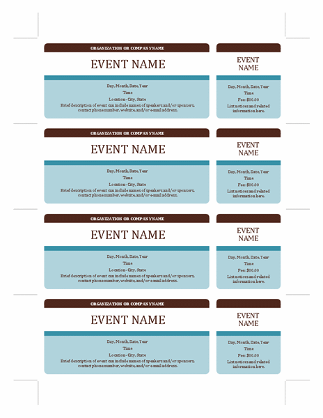 Event tickets Templates Office – Fundraising Tickets Templates for Free
