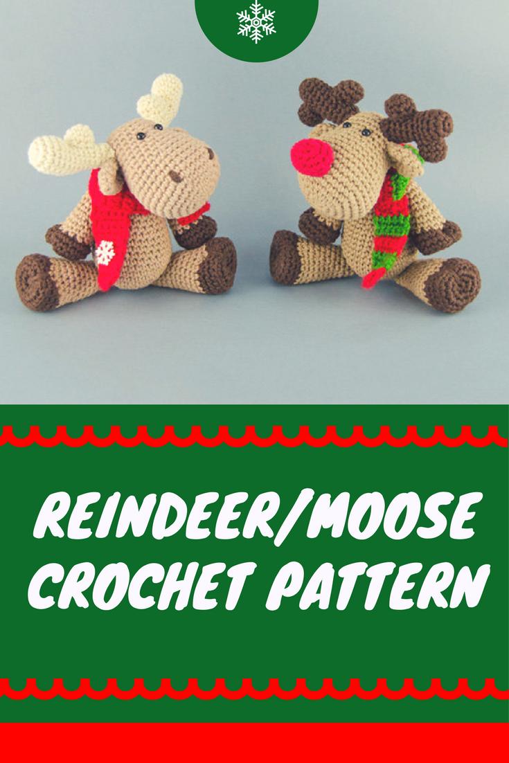 I need to start trying amigurumi- this Crochet Moose or Crochet ...