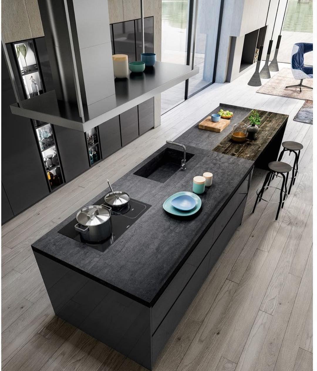 Kuri On Instagram Modernhome Modernsink Moderliving Modernhouse Luxurylifestyle Luxurylife Luxuryde Avec Images Cuisine Moderne Cuisine Loft Decoration De Cuisine