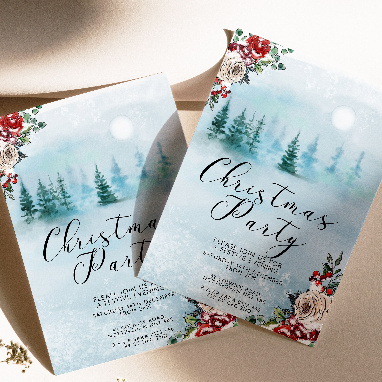 Editable Christmas Party Invitation, Editable Invitation ...