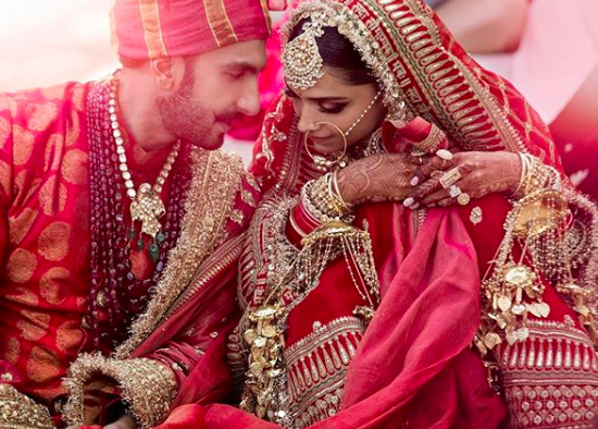 Guys The Moment We Waited For Has Arrived Look At Deepika And Ranveer In Their Wedded Glory Bollywood Wedding Deepika Ranveer Indian Wedding Photography