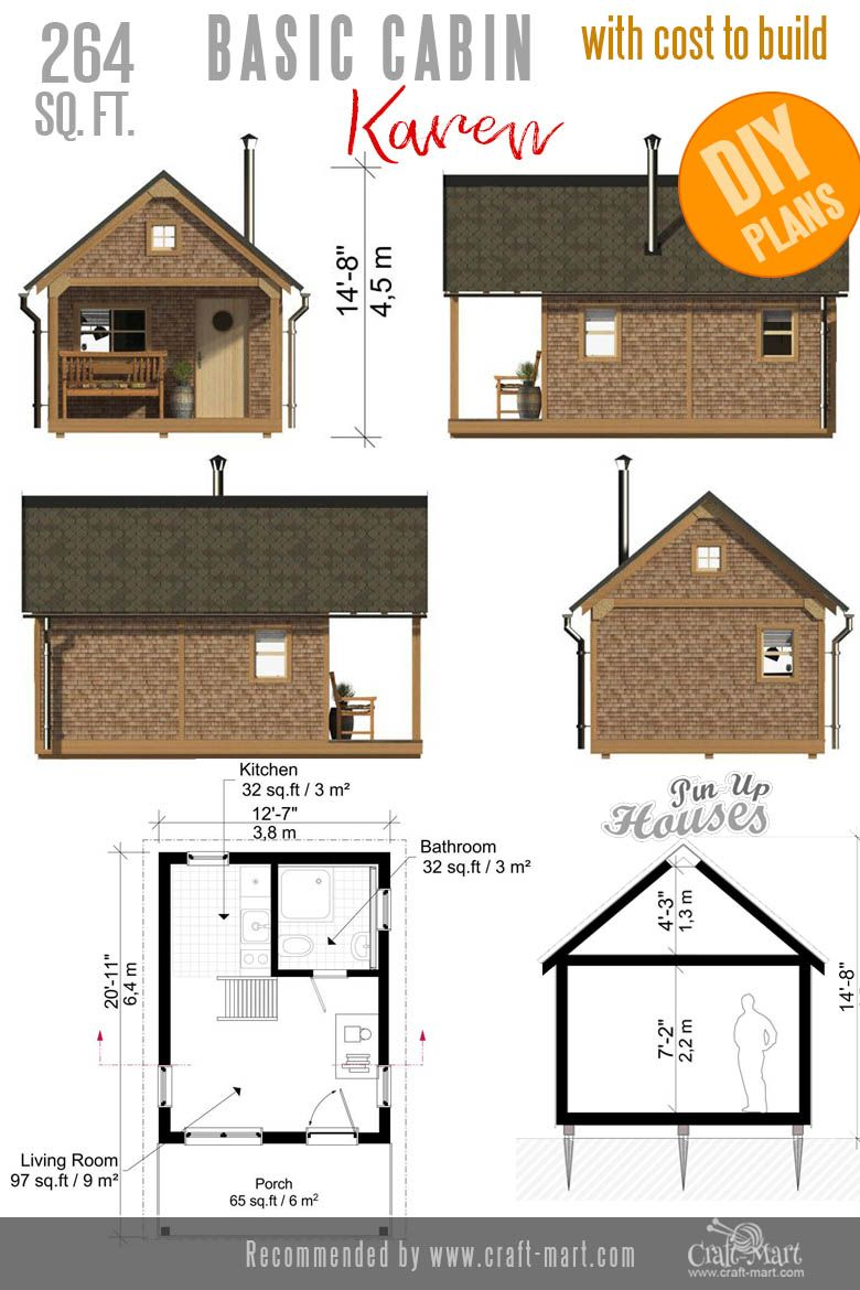 Awesome Small And Tiny Home Plans For Low Diy Budget Craft Mart Tiny House Plans Small House Plans Small Cabin Plans