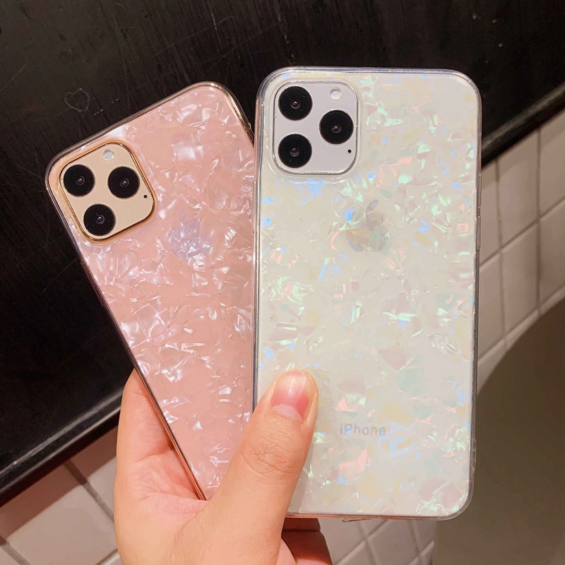 Glitter Shell Pattern Sparkle Bling Crystal Clear Soft Tpu Phone Case For Iphone X Xr Xs 11 Pro Max 8 7 6 6s Apple Phone Case Pretty Phone Cases Cute Phone Cases