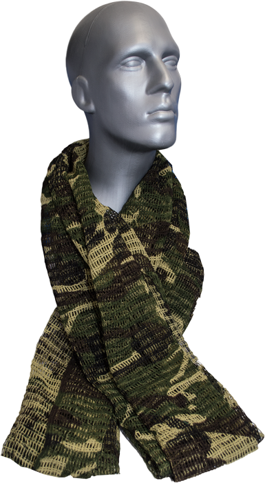 Military Style Scrim Net Scarf | Coleman | Pinterest