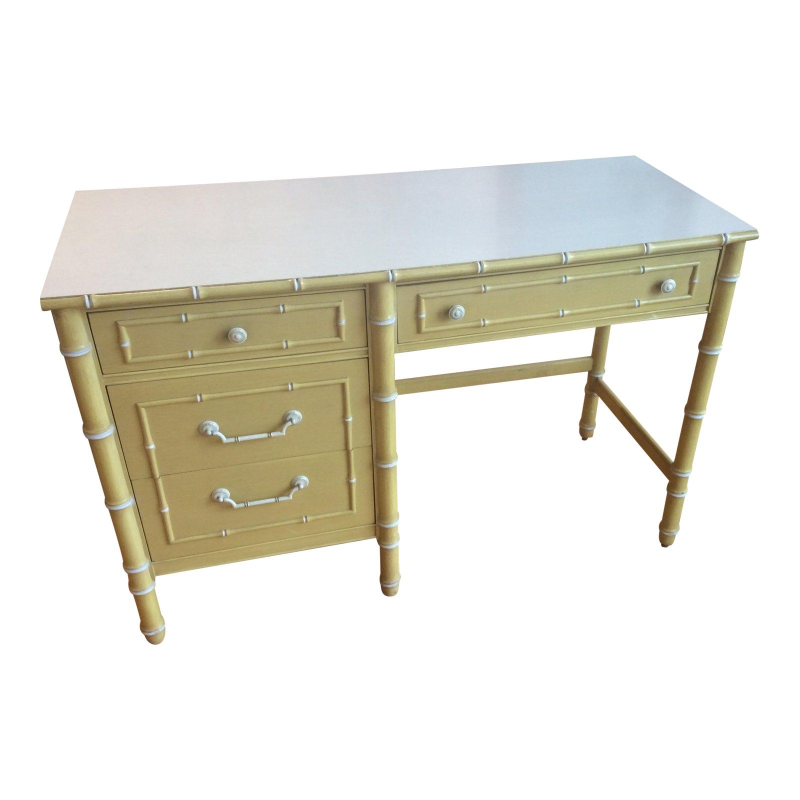 Thomasville Vintage Faux Bamboo Desk For The Home Faux Bamboo Bamboo Furniture Entry Furniture