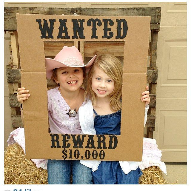 Photo Frame Made From Cardboard Westerncowboy Party Ideas