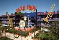 All-Star Music Resort : The magic is in the music! Two pools, one shaped like a piano, the other like a guitar, provide a fun family recreation area. This Value Hotel also offers a food court, a pool bar, pizza delivery to your room, even convenient laund...