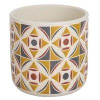 cache pot en cramique motifs carreaux de ciment h13 maisons du monde