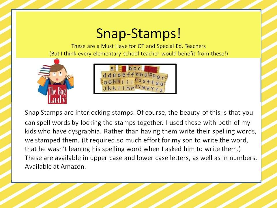 Snap stamps would be a great addition to your classroom!