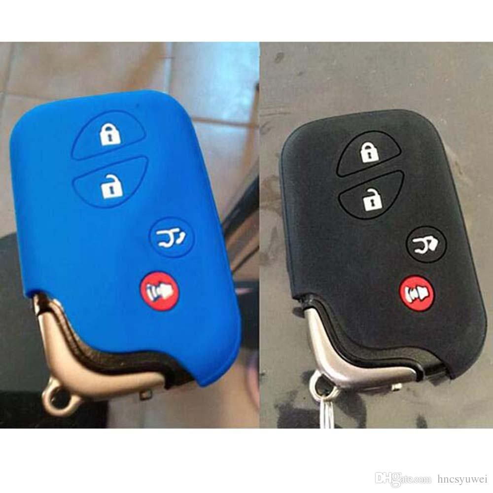 SEGADEN Silicone Cover Protector Case Holder Skin Jacket Compatible with LEXUS 4 Button Smart Remote Key Fob CV2420 Purple