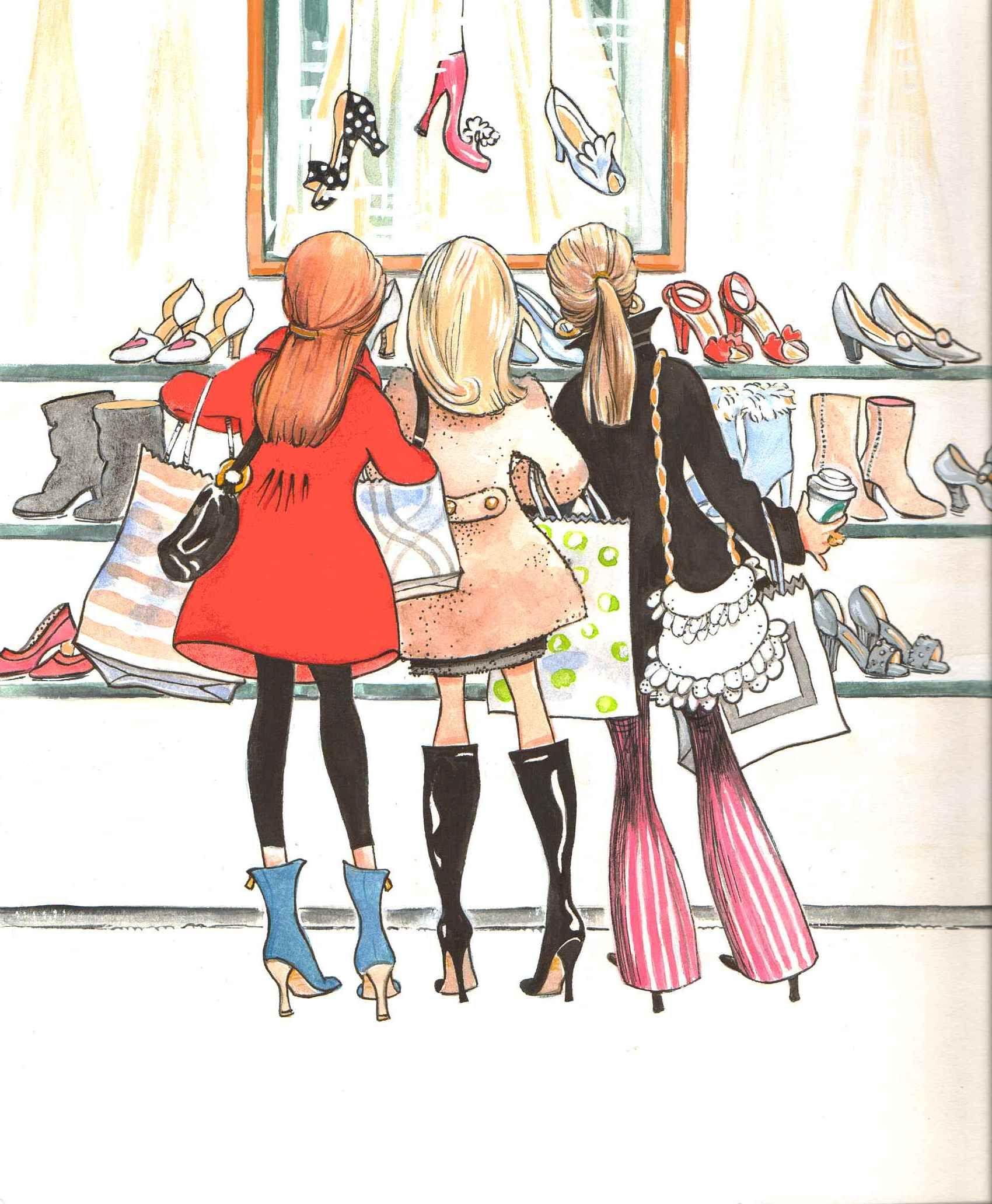 Открытки гуляем девочки