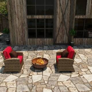 Check out the Forever Patio FP-CYP-2CH-HR 2 Piece Cypress Chat Set