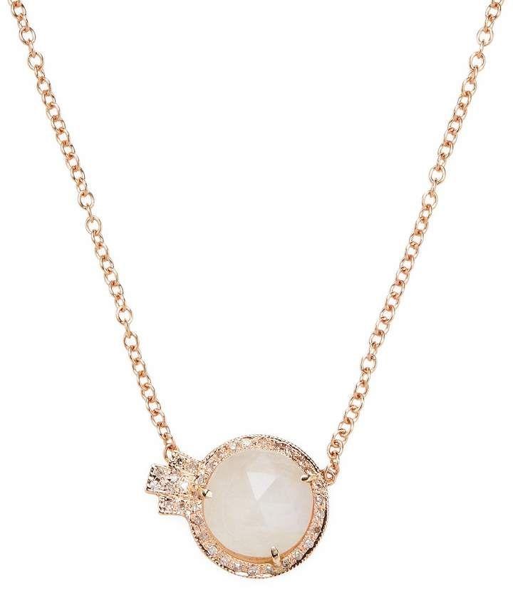 Diamond, moonstone & rose-gold necklace Jacquie Aiche