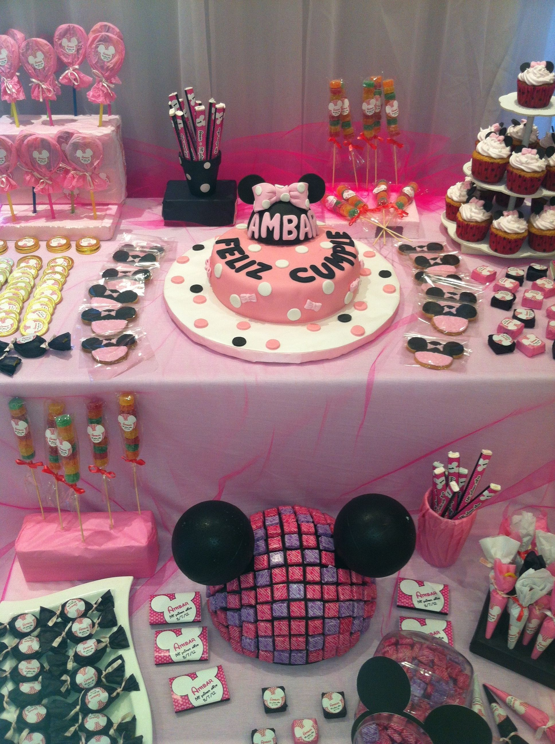 Minnie Mouse Sweet Table Sweet Table Candy Table Sweet