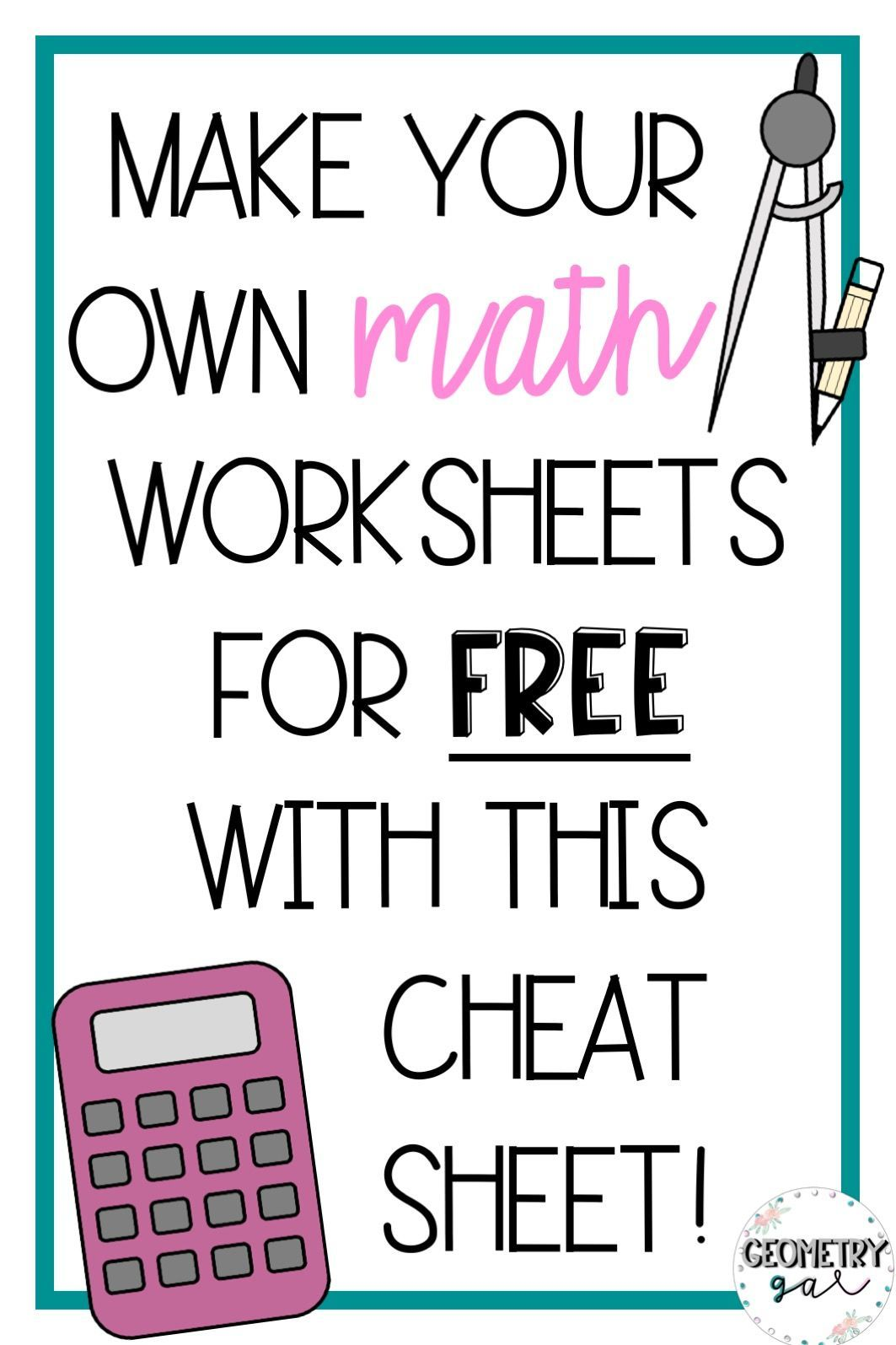 Make Your Own Math Worksheets For Free With Powerpoint
