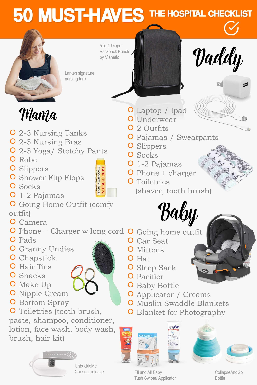 50 musthaves the hospital checklist hospital checklist