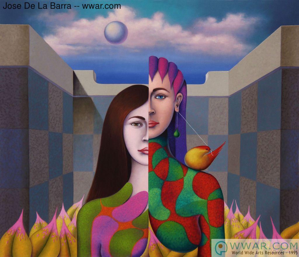 Figurative art by Jose De La Barra: 'Bipolar' fine art print