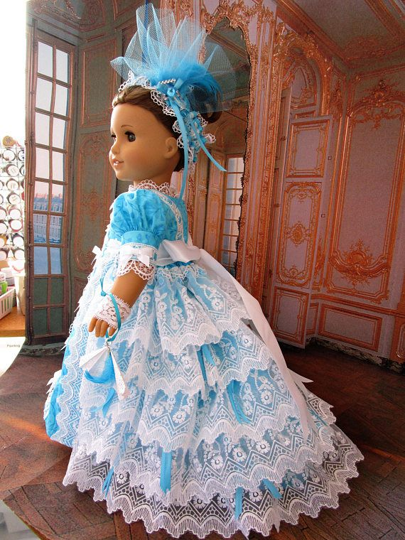 Regency Ball Gown for The American Girl Doll | Puppenkleider und Puppen