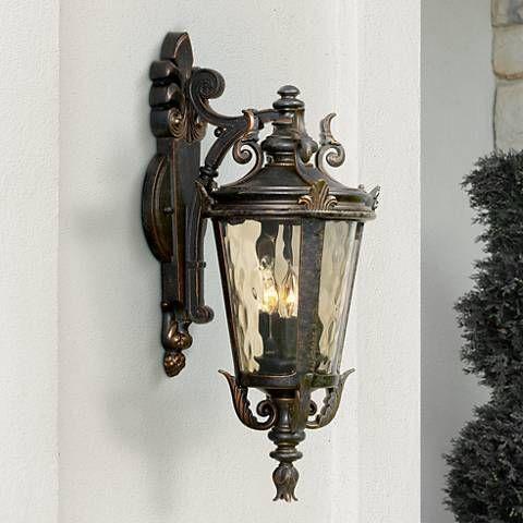 Casa Marseille 21 3 4 High Bronze Outdoor Wall Light 38280 Lamps Plus Outdoor Wall Light Fixtures Wall Lights Outdoor Wall Lighting