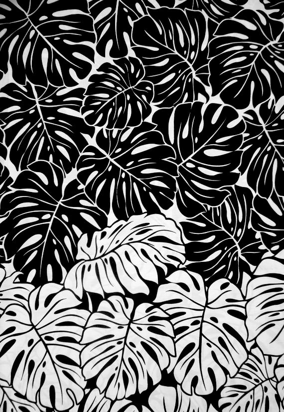 Monstera leaf print black printed textile design