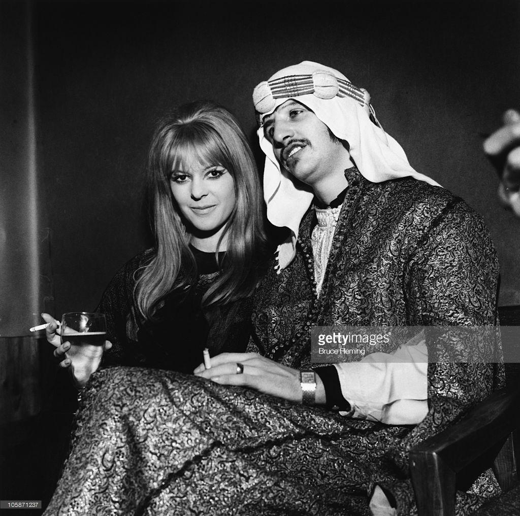 Beatles drummer Ringo Starr with his wife Maureen Starkey ...