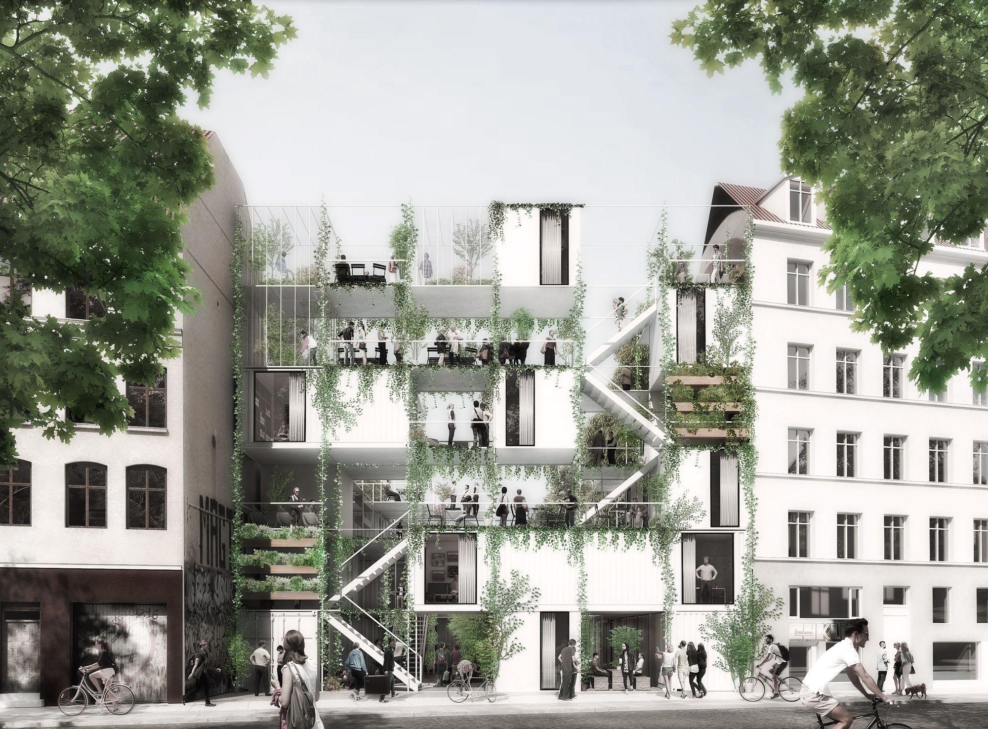 Rendering. Jagtvej 69 - Vendepunktet by WE Architecture