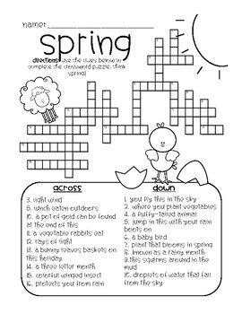 photograph relating to Spring Crossword Puzzle Printable named Spring Crossword Trip Crossword, Spring, Crossword