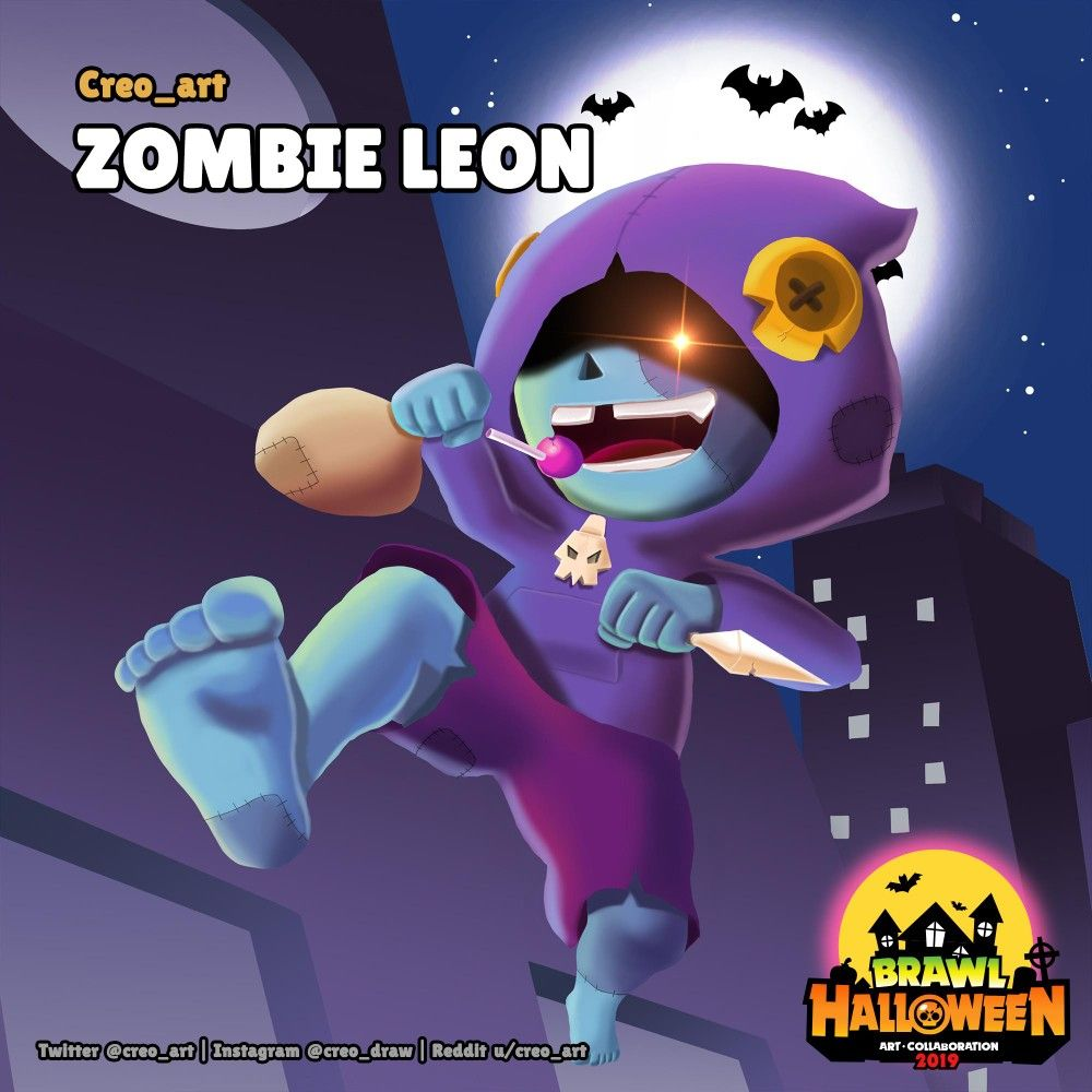 Brawl Halloween Zombie Leon By U Creo Art Brawl Star Character