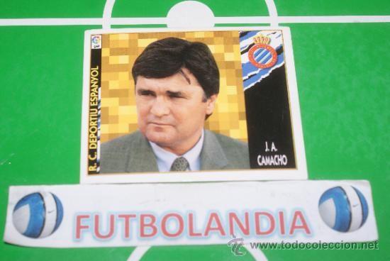 Cromo de fútbol Camacho, entrenador del R.C.D. Español Temporada 97-98 en todocoleccion