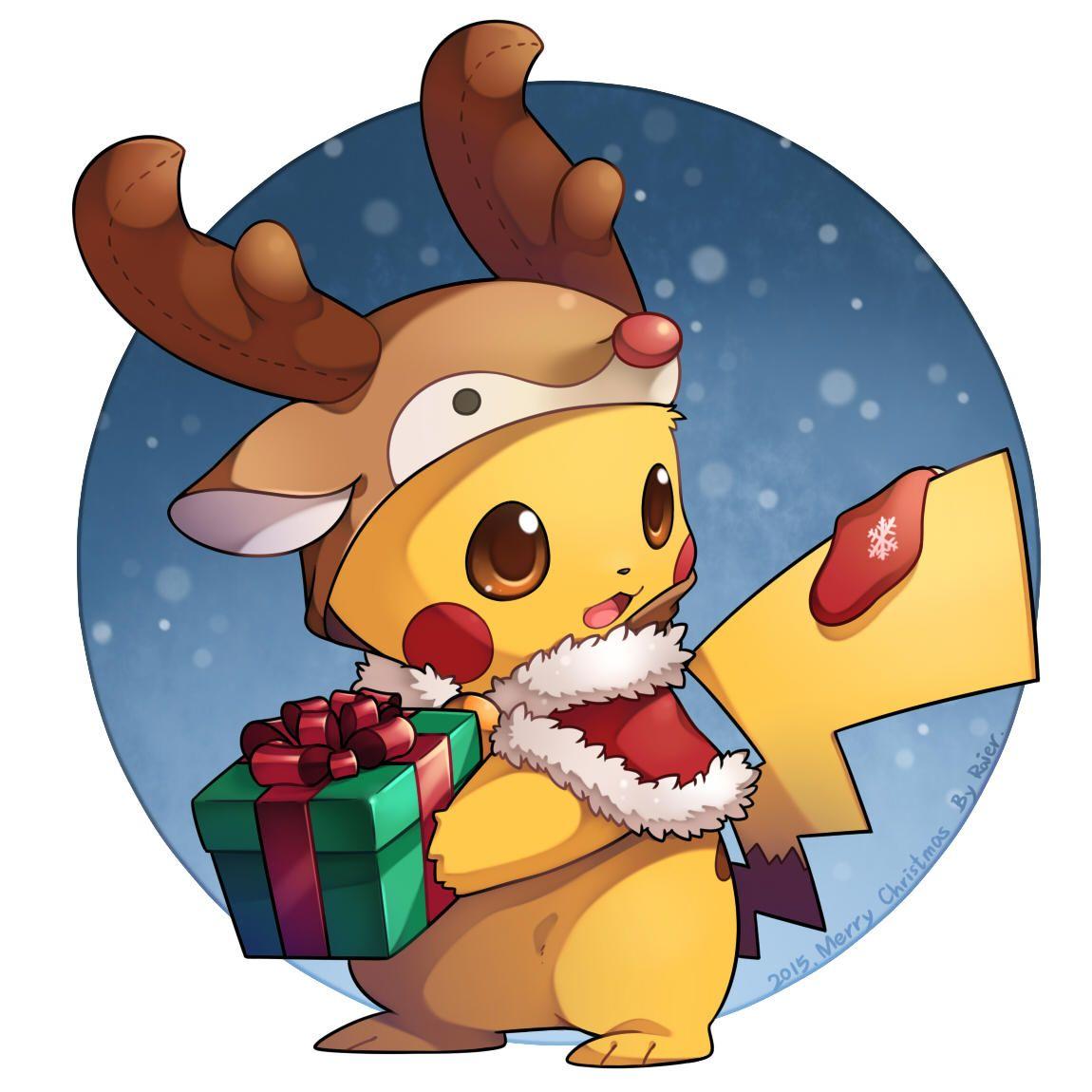 Reindeer Pikachu Pokemon Pikachu Art Cute Pokemon Wallpaper Pikachu Drawing