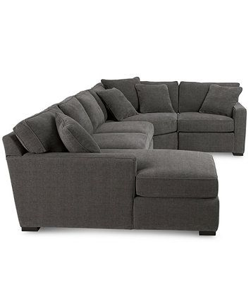 furniture radley 4 piece fabric chaise sectional sofa created for rh pintower com